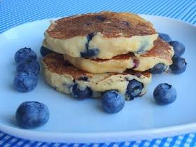 Whole Wheat Blueberry Lemon-Ricotta Pancakes