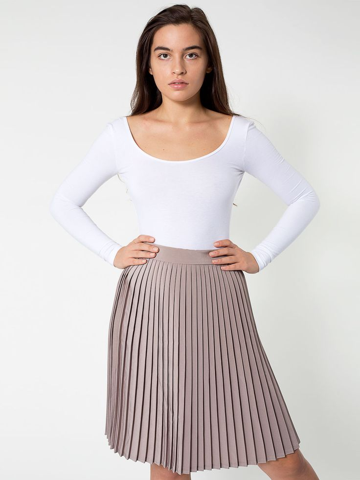 american apparel pleated skirt take the shirt