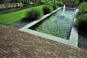 Rectangular Pond Gartenbrunnen Slink Garden Pinterest