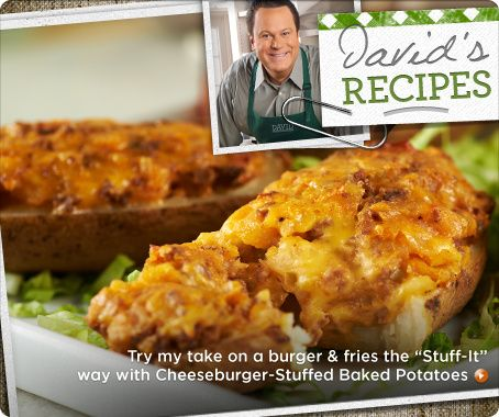 Cheeseburger-Stuffed Baked Potatoes | In the Kitchen with David | Pin ...