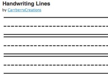 free handwriting paper to print