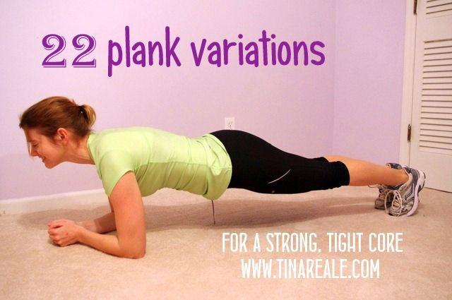 22 Plank Variations