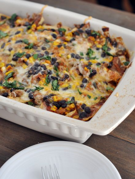 Mel's Kitchen Cafe | Tex-Mex Enchilada Casserole Leave the meat out ...
