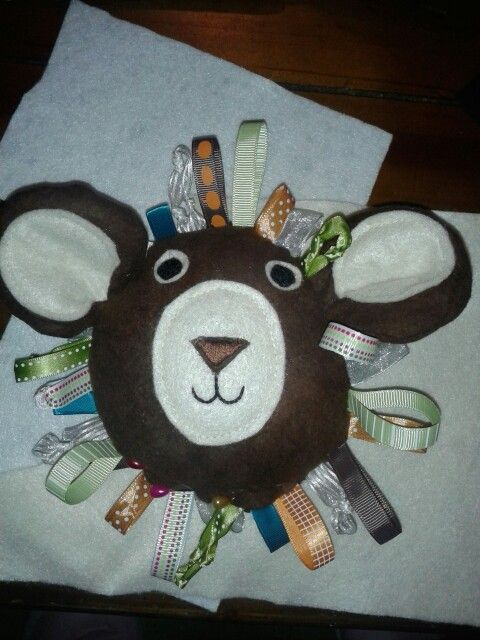 Baby soft taggie toy with crinkle ears. | Sarah's craft | Pinterest