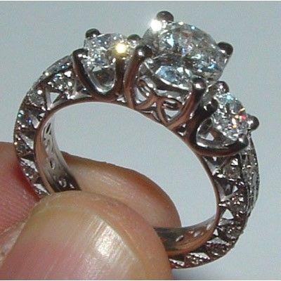 2 5 carat engagement ring antique solitaire