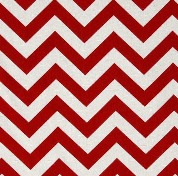 Curtain Panels Red and White Zig Zag Chevron by exclusiveelements, $99.00
