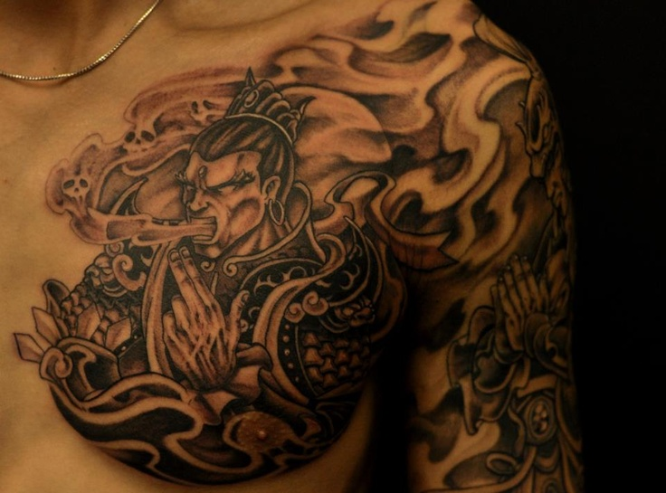 Chronic ink Tattoos, Toronto Tattoo - Warrior chest piece ...