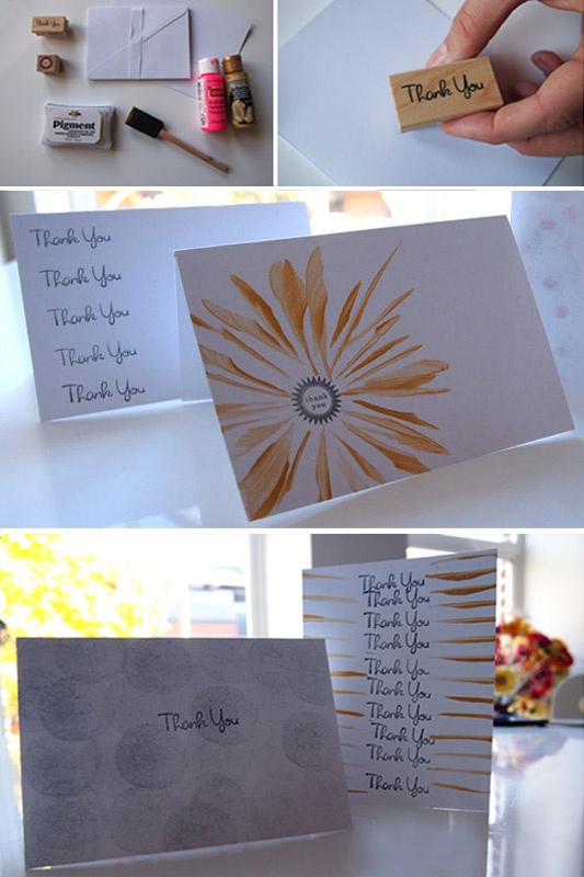 Diy Thank You Cards Diy Pinterest