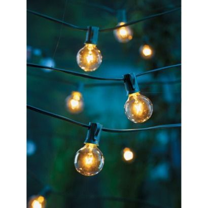 Room Essentials 25ct Clear Globe Lights - Blue String