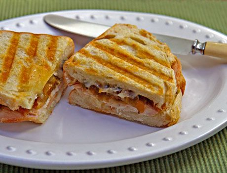 Green tomato and apple chutney makes this turkey and brie panini ...