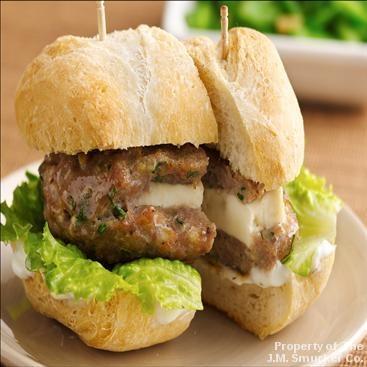 Mini Greek Turkey Burgers with Cucumber Sauce | Recipe
