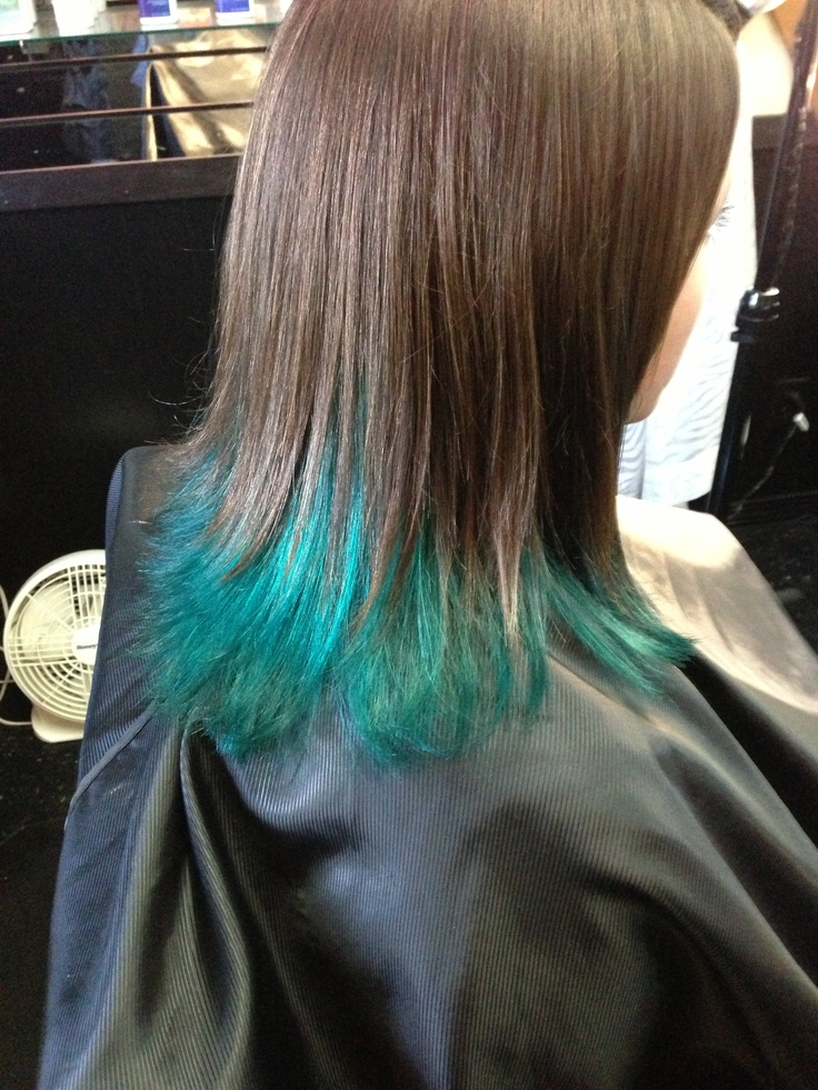 Teal Hair Tips Www Imgkid Com The Image Kid Has It