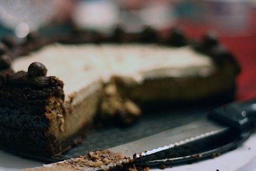 Merry Christmas) Cappuccino Fudge Cheesecake