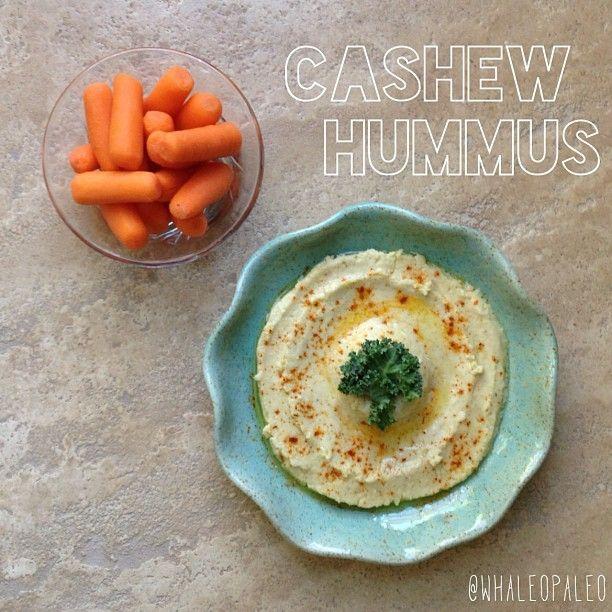 Raw cashew hummus: raw cashews (soaked overnight), garlic, lemon juice ...