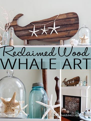 DIY Reclaimed Wood / Salvaged Wood Whale