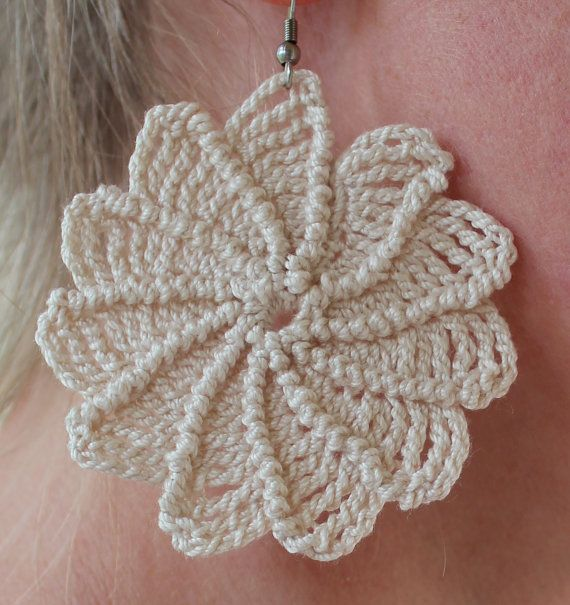 Crochet Spiral Earrings