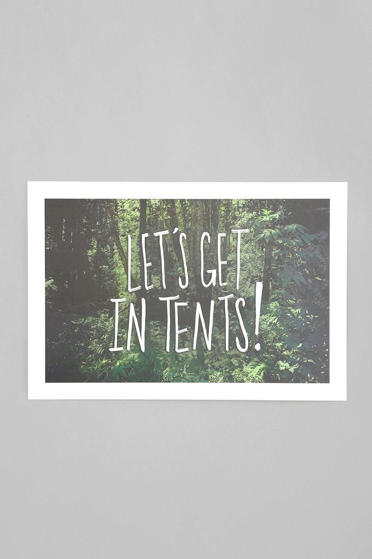 Leah Flores Let's Get In Tents Art Print  #tents #urbanoutfitters #huntedandgathered