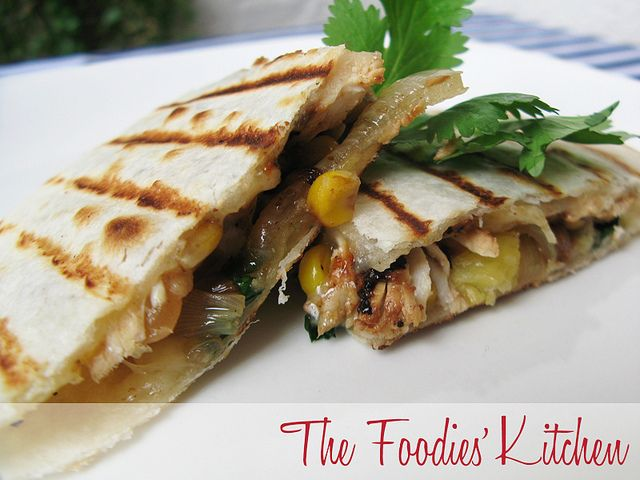 Pineapple and Chicken Quesadillas by The Foodies' Kitchen, via Flickr