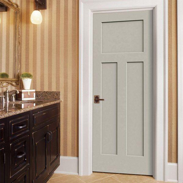 jeld wen door craftsman smooth 3 panel primed molded