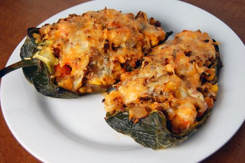 dad s stuffed bell peppers mexican poblano stuffed peppers recipes ...