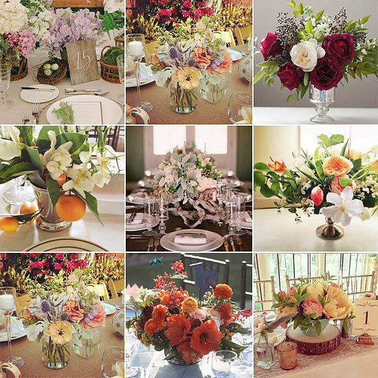Weddings Fresh Flower Weddings Centerpieces Pinterest