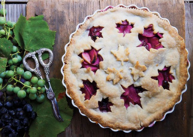 grape amp apple pie use any combination of red or black grapes to ...