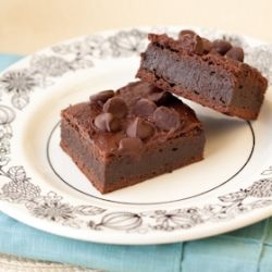 Allergen-free brownies fudge brownies. They'll melt in your mouth ...