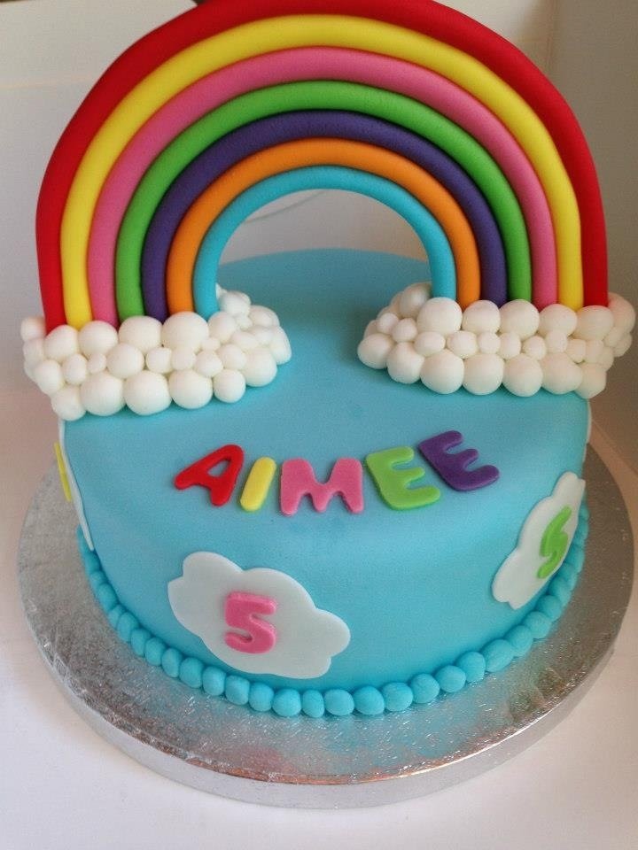 Birthday Cake Ideas Rainbow : Rainbow birthday cake kids stuff Pinterest