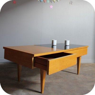 Table basse rangements '50  Tables basses  Pinterest
