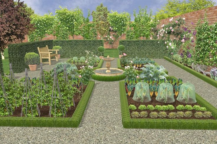 plan de jardin potager en classique all a bloom. Black Bedroom Furniture Sets. Home Design Ideas