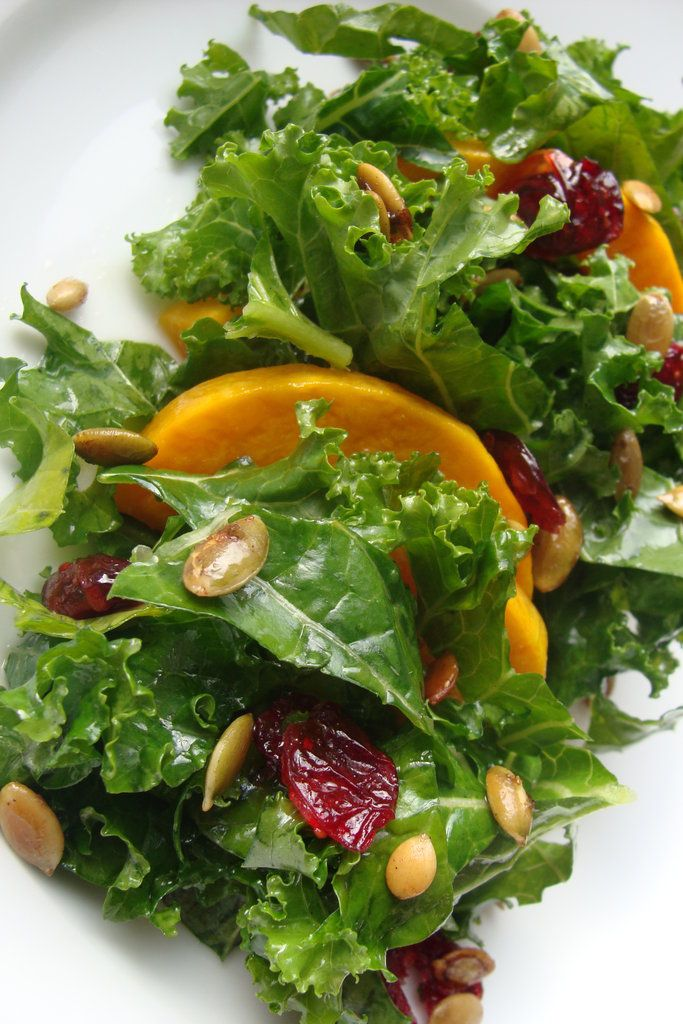 Kale Salad With Butternut Squash, Cranberries and Pepitas: Well's ...