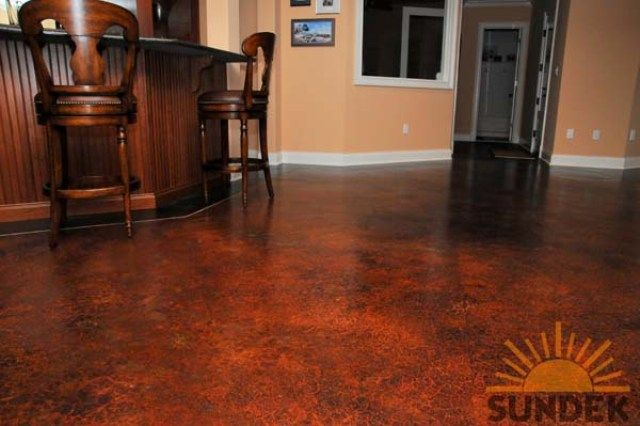 Indoor Stained Concrete Floor Home Perfection Pinterest