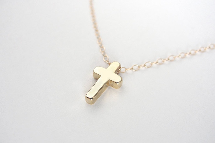 small gold cross necklace cross necklace on gold filled