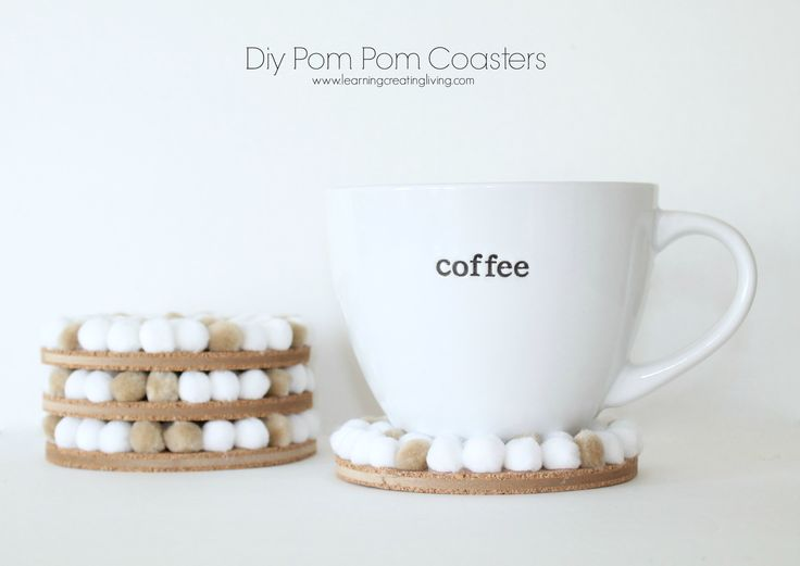 Learning, Creating, Living.: Pinterest Challenge: Week Two - Diy Pom Pom Coasters