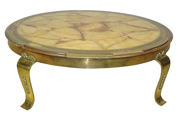 Italian Onyx Coffee Table On