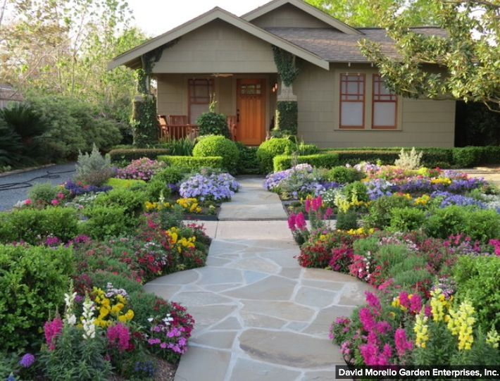 contemporary front backyard garden