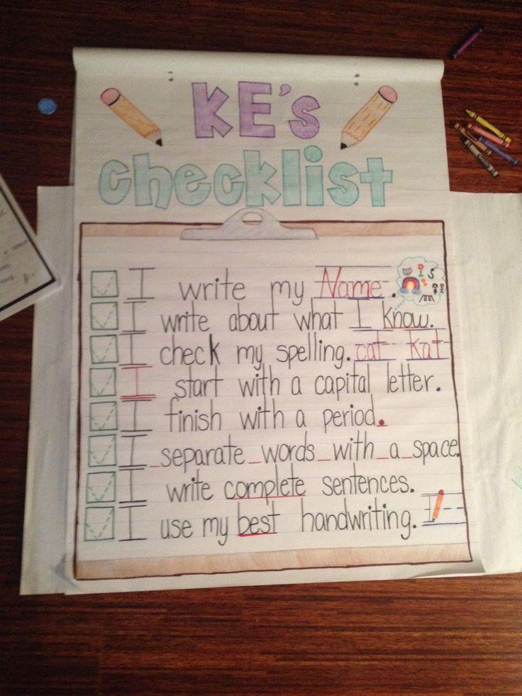 kindergarten writing assignment
