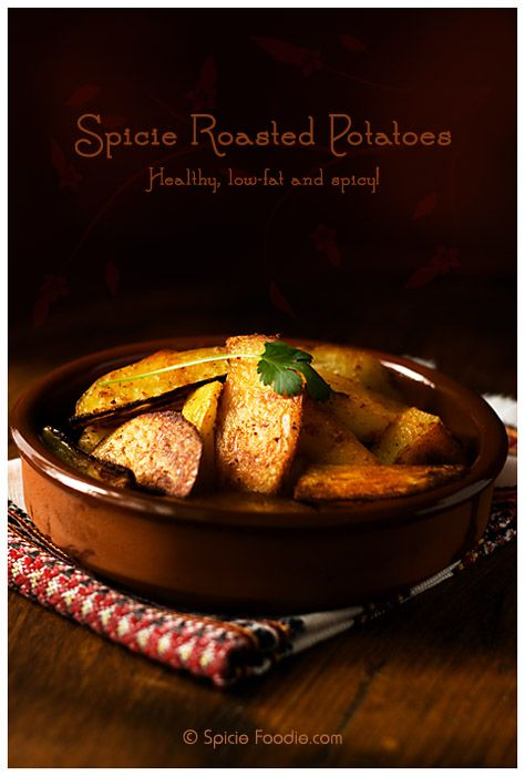 ... roasted; spicy; spicy roasted potatoes; cayenne; chile powder; oven