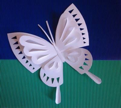 Manualidades como hacer mariposas de papel kirigami - Como hacer mariposas de papel ...