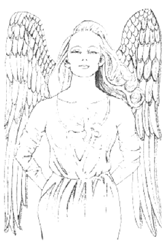Adult Coloring Pages Gardion Angels