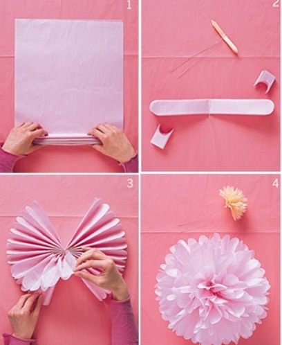 Tissue paper flower cute ideas wedding birthday etc for Cute designs for paper