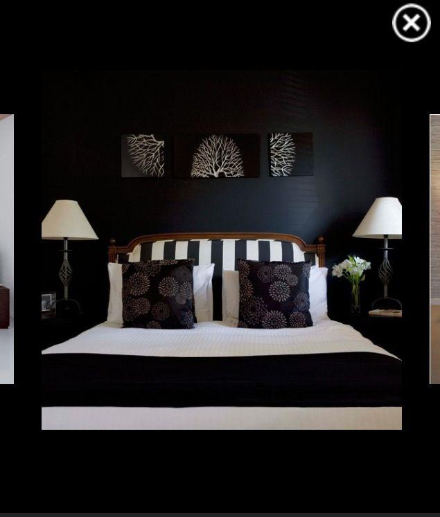 black white bedroom theme decoraci n de interiores pinterest