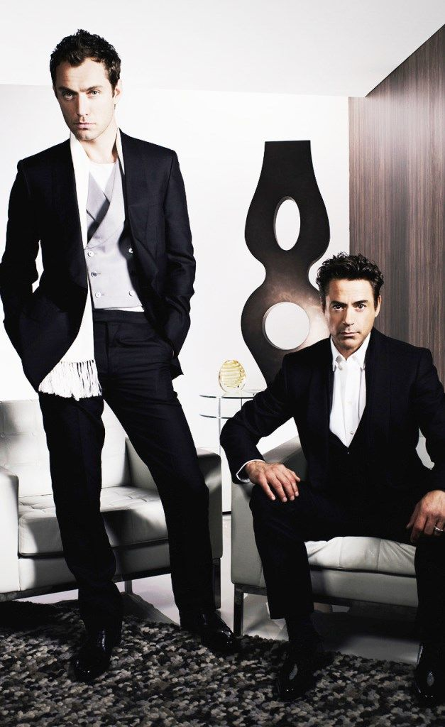 Jude Law and Robert Downey Jr//