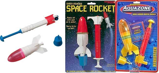 Water Rocket...the best summer toy    My sister has the space one and it was so fun.