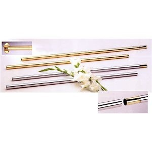 Solid brass shower curtain rod polished brass 1 quot diameter 72 quot long