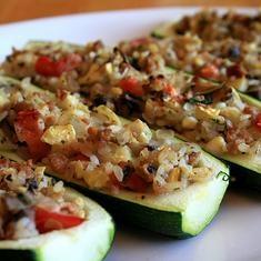 Crab- Stuffed Zucchini | Foodily | Yums | Pinterest