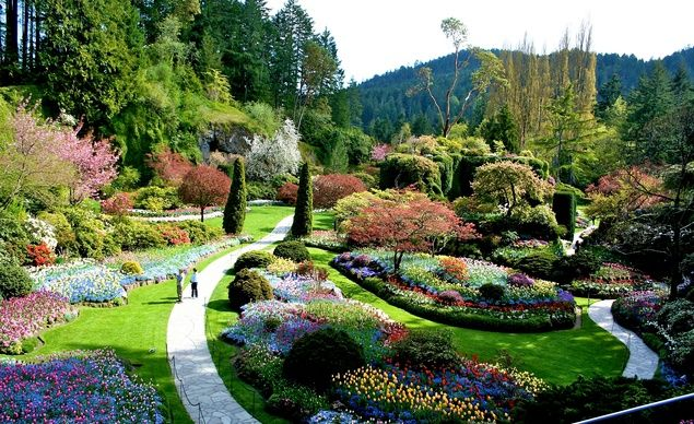 Butchart Gardens in Victoria, B.C., Canada.