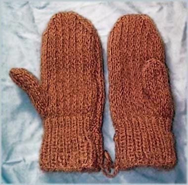 Two Needle Mittens Knitting Pattern