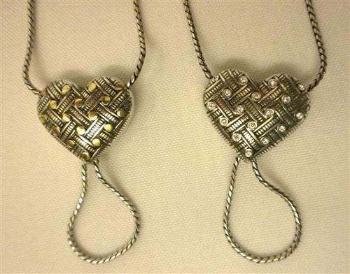 brighton jn2502 lace silver gold plt crystals