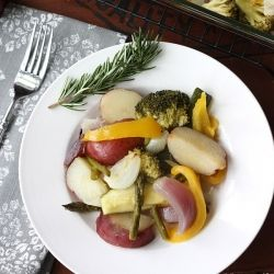 Easy and delicious oven roasted vegetables perfect as a side dish or ...
